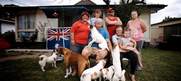 Struggle street family